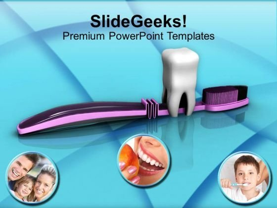 Focus On Dental Hygiene PowerPoint Templates Ppt Backgrounds For Slides 0413
