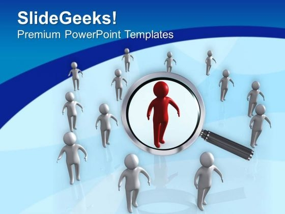 Focus On Team Leader Business Concept PowerPoint Templates Ppt Backgrounds For Slides 0513