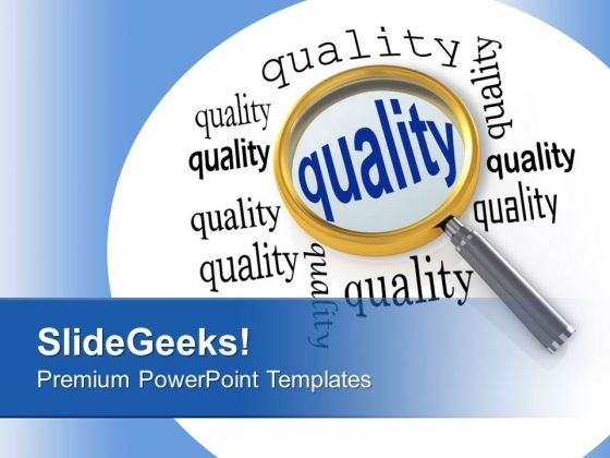 Focusing On Quality Business Management PowerPoint Templates Ppt Backgrounds For Slides 0313
