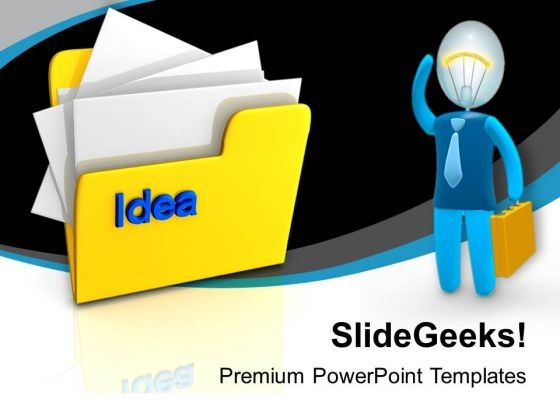 Folder With Idea Computer PowerPoint Templates Ppt Background For Slides 1112
