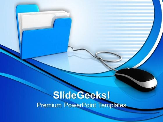 Folder With Mouse Internet PowerPoint Templates And PowerPoint Themes 0812