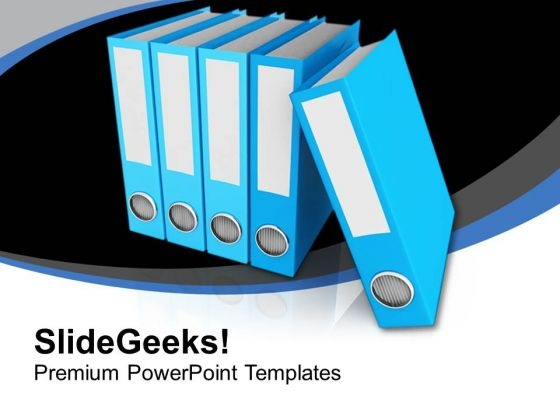 Folders For Business Data PowerPoint Templates Ppt Backgrounds For Slides 0813