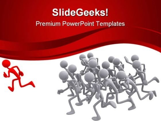 Follow The Leader Leadership PowerPoint Templates And PowerPoint Backgrounds 0611