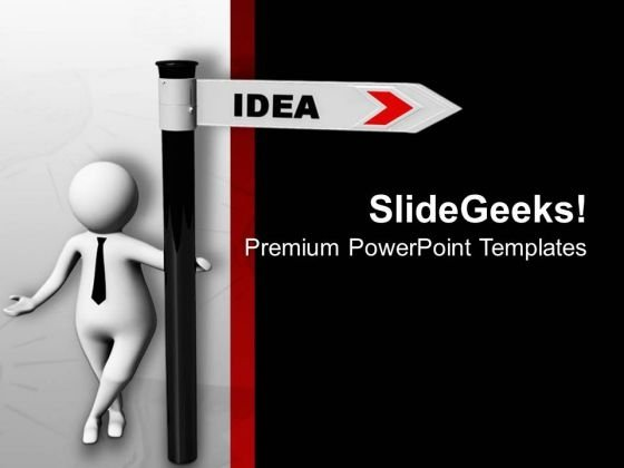 Follow The Path Of Idea PowerPoint Templates Ppt Backgrounds For Slides 0713
