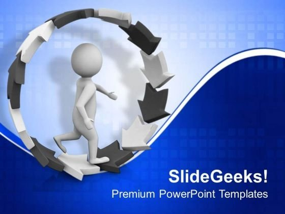 Follow The Unidirectional Way Of Business PowerPoint Templates Ppt Backgrounds For Slides 0613