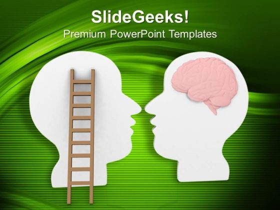 Follow Your Brain For Business Success PowerPoint Templates Ppt Backgrounds For Slides 0613
