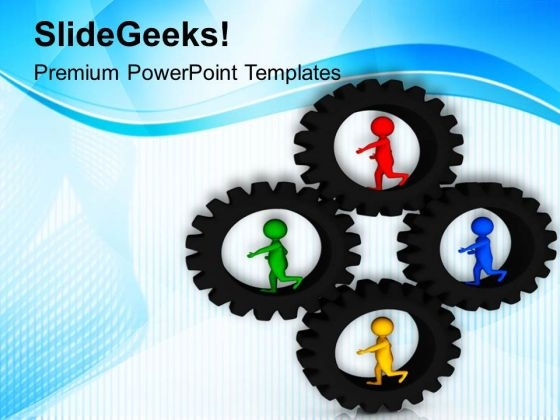 Follow Your Own Path For Business Growth PowerPoint Templates Ppt Backgrounds For Slides 0613
