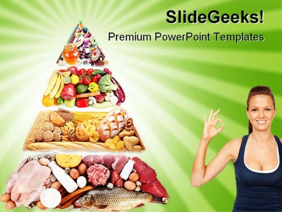 Food Pyramid Health PowerPoint Templates And PowerPoint Backgrounds 0411