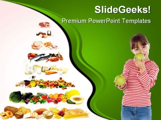 Food Pyramid Health PowerPoint Templates And PowerPoint Backgrounds 0611