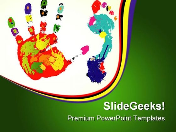 Foot And Palm Art PowerPoint Templates And PowerPoint Backgrounds 0611