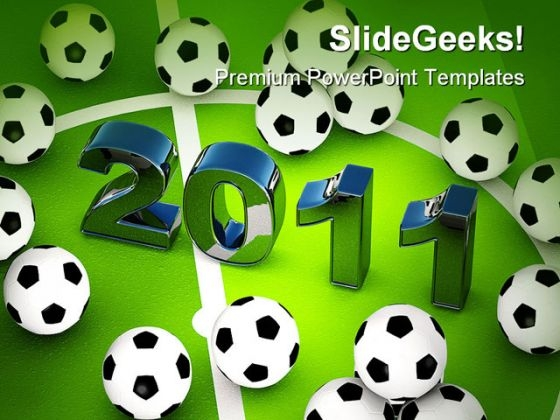 Footballs 2011 Sports PowerPoint Backgrounds And Templates 0111