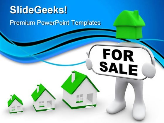 For Sale Realestate PowerPoint Backgrounds And Templates 1210