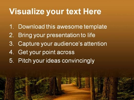 forest_path_way_nature_powerpoint_template_0810_text
