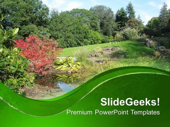 Forest View With Green Background PowerPoint Templates Ppt Backgrounds For Slides 0713