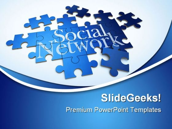 Forming Puzzle Social Network Communication PowerPoint Templates And PowerPoint Backgrounds 0511