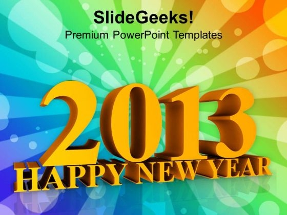 Forthcoming Year New Year Concept PowerPoint Templates Ppt Backgrounds For Slides 1212