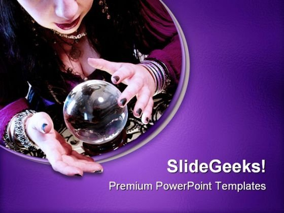 Fortune Teller Future PowerPoint Themes And PowerPoint Slides 0511