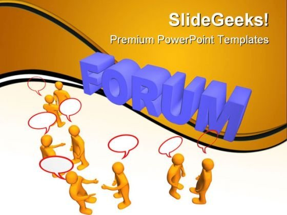 Forum Communication PowerPoint Templates And PowerPoint Backgrounds 0611