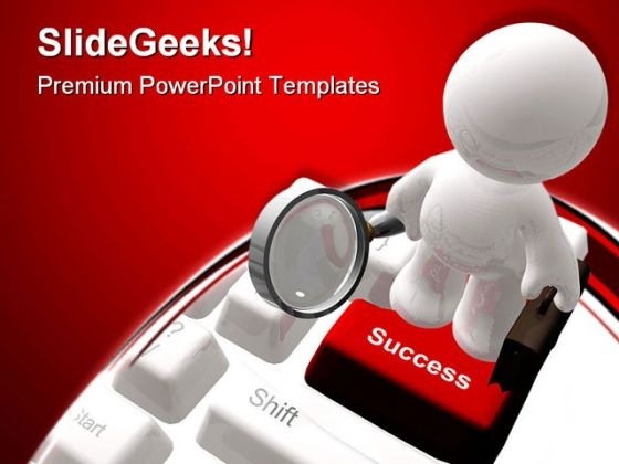 Found Success Computer PowerPoint Themes And PowerPoint Slides 0811