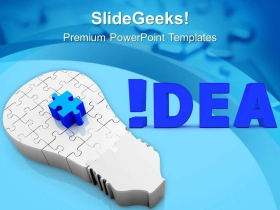 Found The Idea For Business Upliftment PowerPoint Templates Ppt Backgrounds For Slides 0513