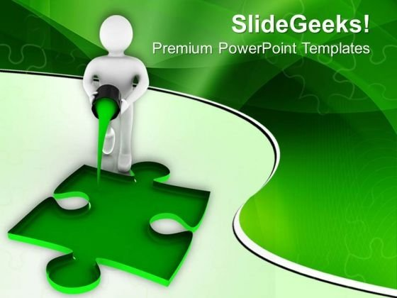 Found The Solution To The Problem PowerPoint Templates Ppt Backgrounds For Slides 0813