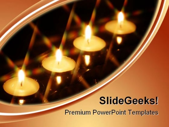 Four Candles Festival PowerPoint Templates And PowerPoint Backgrounds 0611