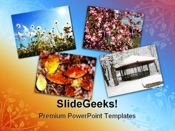 Four Seasons Nature PowerPoint Themes And PowerPoint Slides 0711