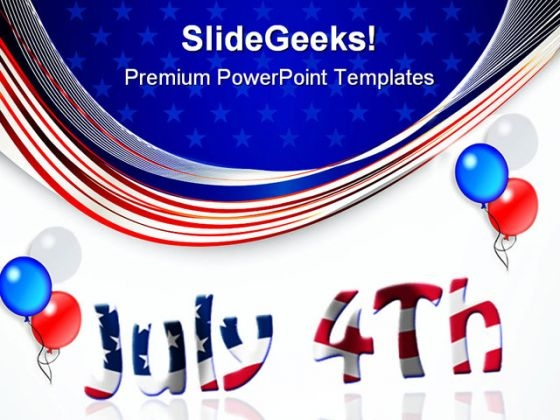 Fourth July Americana PowerPoint Templates And PowerPoint Backgrounds 0611