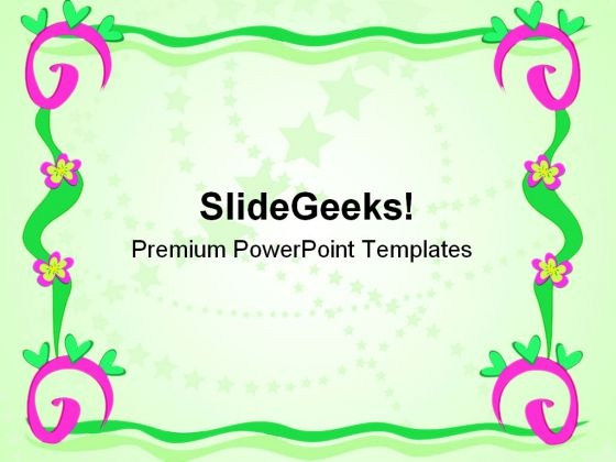 frame of spirals art powerpoint templates and powerpoint, Modern powerpoint
