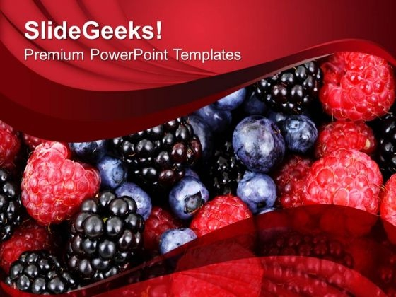 Fresh And Healthy Fruits PowerPoint Templates Ppt Backgrounds For Slides 0213