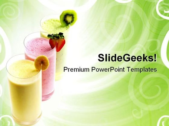 Fruit Smoothies Food PowerPoint Themes And PowerPoint Slides 0511