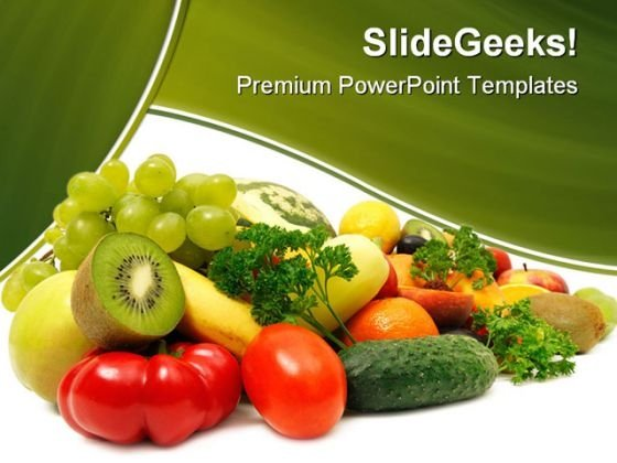 Fruits And Vegetables Food PowerPoint Backgrounds And Templates 1210