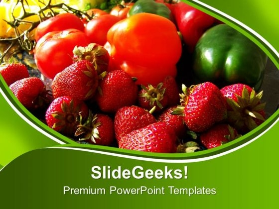 Fruits And Veggies Health PowerPoint Templates Ppt Backgrounds For Slides 0213