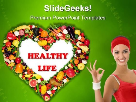 Fruits Vegetables Framed Health PowerPoint Backgrounds And Templates 1210