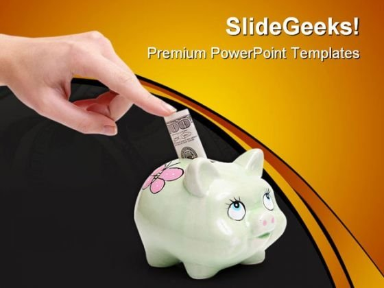 Future Savings Money PowerPoint Themes And PowerPoint Slides 0411