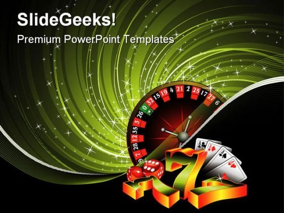 Gambling Game PowerPoint Themes And PowerPoint Slides 0511