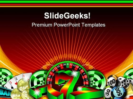 Gambling Illustration Game PowerPoint Themes And PowerPoint Slides 0611