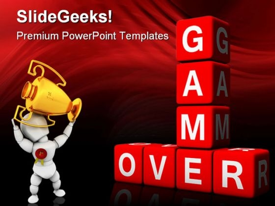 Game Over Sports PowerPoint Templates And PowerPoint Backgrounds 0211