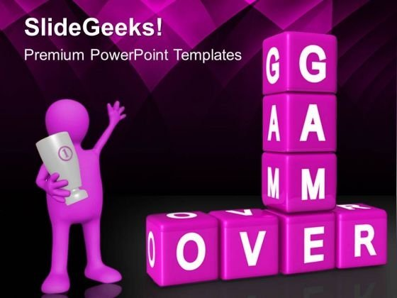 Game Over Winner Future PowerPoint Templates And PowerPoint Themes 0412