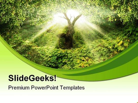 Garden Eden Nature PowerPoint Themes And PowerPoint Slides 0411