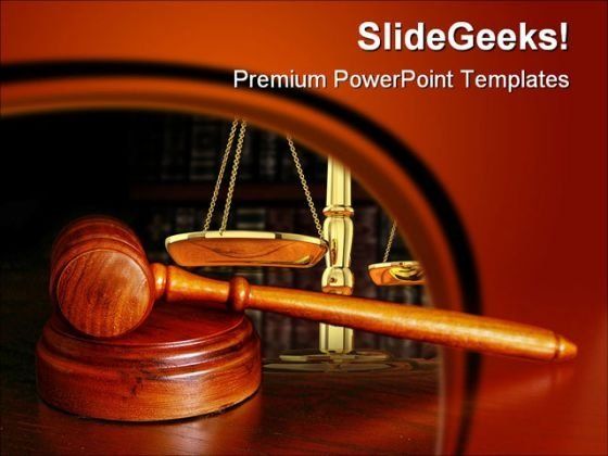 Gavel Law PowerPoint Background And Template 1210