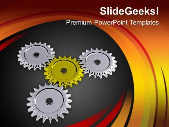 Gear Business Process For Success And Profit PowerPoint Templates Ppt Backgrounds For Slides 0613