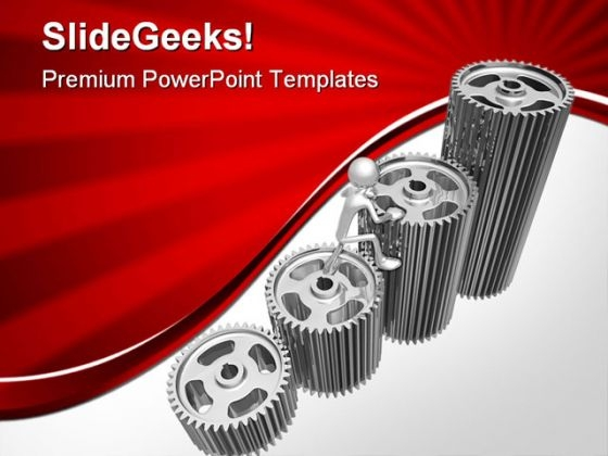 Gear Graph Business PowerPoint Themes And PowerPoint Slides 0411