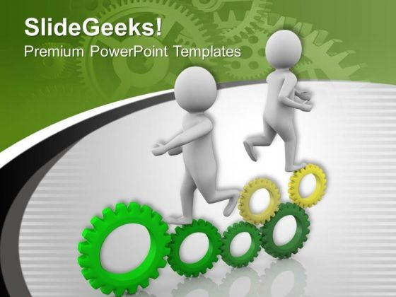 Gear Process To Succeed In Business Management PowerPoint Templates Ppt Backgrounds For Slides 0613