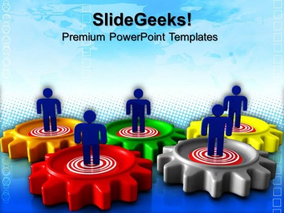 Gear Target Business PowerPoint Templates And PowerPoint Themes 0612