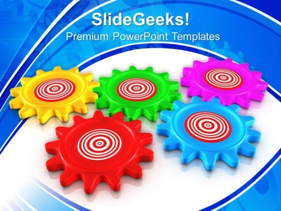 Gear Target Gearwheels PowerPoint Templates And PowerPoint Themes 0712