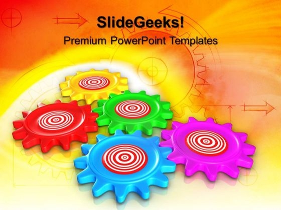 Gear Target Leadership PowerPoint Templates And PowerPoint Themes 0612