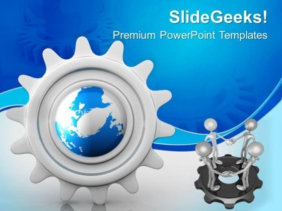 Gear Teamwork Business PowerPoint Templates And PowerPoint Themes 0612
