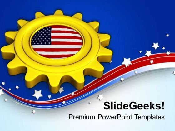 Gear The Business With American Market PowerPoint Templates Ppt Backgrounds For Slides 0713