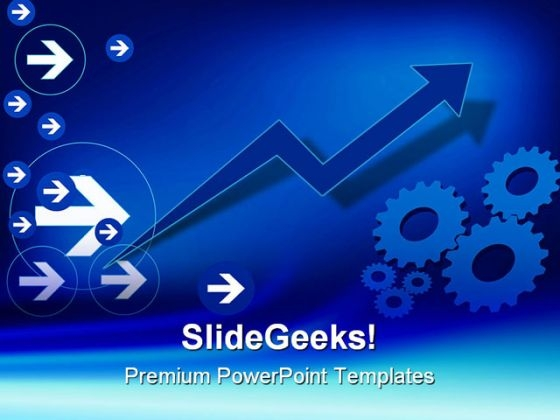 Gear With Arrow Background PowerPoint Templates And PowerPoint Backgrounds 0511
